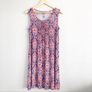 Croft & Barrow Bohemian Floral Pattern Midi Dress